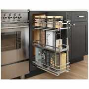 Kitchen Base Cabinet Rollout Chrome Shelves For 9 Inch Opening 8 Soft Close