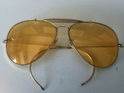 Vintage 1980's Bausch And Lomb Amber Outdoorsman Aviators 58mm