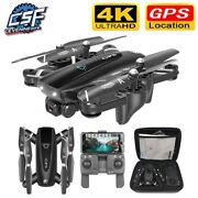 Gps Rc Drones Folding Quadcopter With 4k Hd Camera 5g Wifi Fpv Helicopter Toys