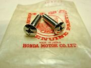 Nos Honda Oval Screw 6x28 Oem 93700-06028 Qty 2 Fast Shipping
