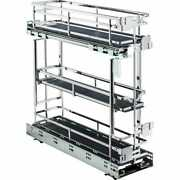 Kitchen Base Cabinet Rollout Chrome Shelves For 6 Inch Opening 5 Soft Close