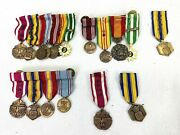 Vintage Us Military Miniature Dinner Dress Mounted Medals