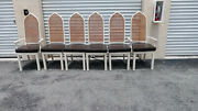 Mid Century Vintage Set Of 6 Cathedral Dining Room Chairs