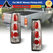 Set Of 2 Altezza Tail Lights For 86-97 Nissan Pickup D21 Hardbody Chrome/clear