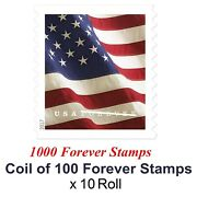 1000 Pcs Usps Forever Stampsandmdashroll Of 10 America Flag Postage Stamps Us Seller