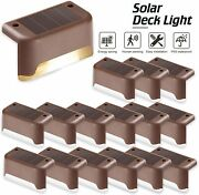 Outdoor Solar Led Deck Lights Path Garden Pathway Patio Stairs Fence Lamp 4-24pc
