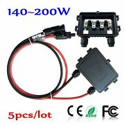 5 Pcs Solar Panel Junction Combine Box With 3 Diode Pv Cable Wire Connectors Kit