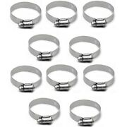 Ideal 1.49 - 2.48 Inch Stainless Steel Boat Hose Band Loops Clamps Set Of 10