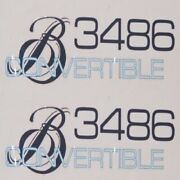 Bayliner Boat 3486 Convertible Decals | Gray / Blue Pair