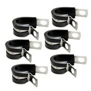 Jm 681 Stainless Steel 1/2 In Rubber Insulated Ss Boat Loops Clamps Set Of 6