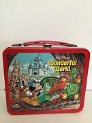 Vintage Aladdin Walt Disney World On Ice Metal Lunch Box And Thermos Authentic