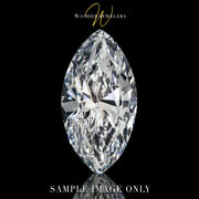 0.9ct Marquise Cut Loose Diamond Gia Certified H/si2 + Free Ring 6361135241