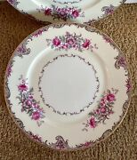 """Grace China Made In Occupied Japan Set 8 10"""" Dinner Plates Corsage"""
