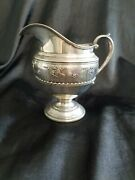 Wallace Rose Point Sterling Silver Pitcher Vintage 1930s Rare