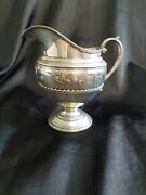 Wallace Rose Point Sterling Silver Pitcher Vintage 1930s Rareandnbsp