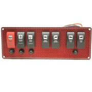 Wellcraft Boat Switch Panel 025-4075 | 10 3/4 X 3 7/8 Inch Red