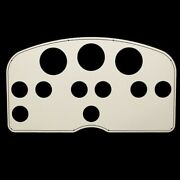 Powerquest Off White Aluminum 300 Twin Engine Boat Blank Gauge Panel