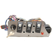 Larson Boat Ignition Switch Panel 2207-2165 | 7 3/4 X 3 Inch Gray