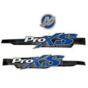 Mercury Boat Cowling Decals | Optimax Pro Xs Blue Set Of 3