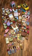 Large Vintage Fisher Price Loving Family Lot With Dolls, Furniture And Rare Pieces