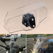 Adjustable Clip On Windshield Extension Spoiler For Harley Dyna Fxdb Bmw Ducati