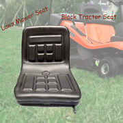 Universal Water-resistant Black Tractor Seat With Sliding Tracks Lawn Mower Seat