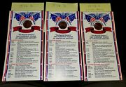 3 Bicentennial Lincoln Penny Cards 2- 1976 1- 1975