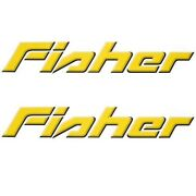 Tracker Fisher Boat Decal 130580   Yellow Black Pair
