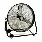 24 Commercial Industrial Drum Fan Barrel Rolling Adjustable Warehouse Floor New