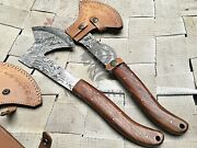 Hand Forged Damascus Steel Throwin Axe   Throwing Hatchet   Christams Gift Waz