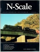 N Scale Magazine Sep/oct 1990 -model Railroad Trains Layout Detailing Back Issue