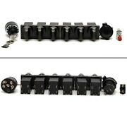 Boat Switch Set   9 Piece / Turn Style W/ Ignition And Horn