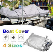 Boat Cover Yacht Outdoor Protection Waterproof Heavy Duty Silver Reflective X6e2