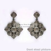 Antique Design Pave Diamond Setting 925 Sterling Silver Woman Gift Earring Tb54