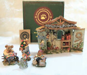 New Boyds Bears Garden Of Plenty Pac 5pc Bloomengrows Potting Shed Rosie Blossom