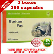 Badger Fat Dachsfett 360 Capsules Sustamed Russian Best Quality Original Product