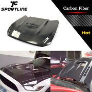 Carbon Fiber Front Hood Cover With Scoop For Ford Mustang 2-door 2015-2017