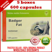 Badger Fat Dachsfett 600 Capsules Sustamed Russian Best Quality Original Product