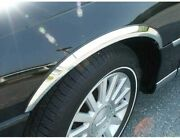 Fits Lincoln Town Car 2003-2010 Qaa Molded Stainless Chrome Wheel Fender Trims