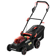 Cordless Lawn Mower 16 With 2 Battery Adjustable Height Mulching Grass Mowers