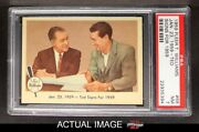 Fleer 68 Ted Williams - Ted Signs For 1959 Red Sox Psa 7 - Nm