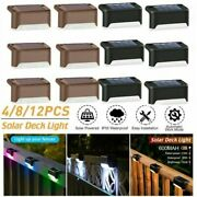 Solar Led Deck Lights Path Outdoor Garden Patio Pathway Stairs Step Fence Lamp