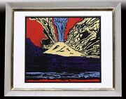 Andy Warhol Vesuvius 2/250 Silk Screen Autograph Certificate From Japan