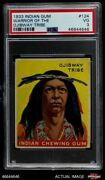 1933 Goudey Indian Gum 124 Warrior Of The Ojibway Tribe Psa 3 - Vg