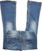 Silver Jeans Size 28 L30 Actual Eden Style Blue Denim Flare Hipster Wj1