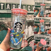 2019 Starbucks China Rare Water Park 20oz Straw Cup Double Wall Glass Tumbler