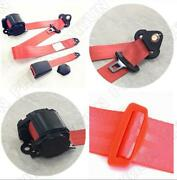 High Strength Polyesterred Retractable 3 Point Car Safety Seat Belt Seatbelt Kit