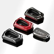 Gloss Luxury Real Carbon Fiber Keychain Key Fob Cover For Chevrolet Chevy Camaro