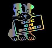 Dog On Board Decal Puppy Pet Love Car Sticker Vinyl Accessories For Auto Product