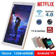 10.1 Wifi Tablet Android 10.0 Pad 12+512gb Tablet Computer Game Gps Dual Camera